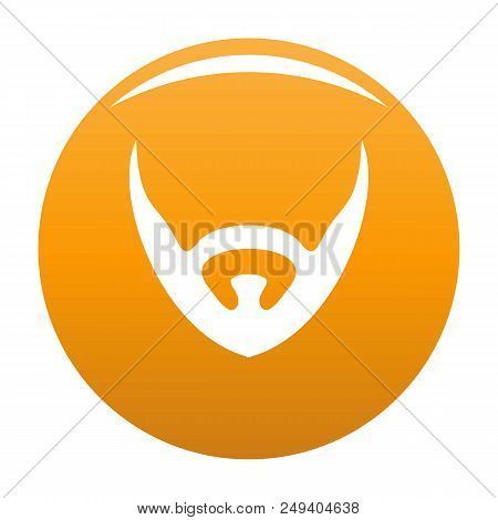 Short Beard Icon. Simple Illustration Of Short Beard Vector Icon For Any Design Orange
