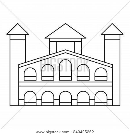 Historical Building Icon. Outline Illustration Of Historical Building Vector Icon For Web Design Iso