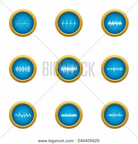 Pulse Icons Set. Flat Set Of 9 Pulse Vector Icons For Web Isolated On White Background