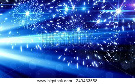 Abstract, Fine Art, Azure, Background ,background ,beautiful ,blue, Blue Light Effect On Black Backg