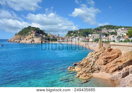 Beach And Village Of Tossa De Mar At Costa Brava,catalonia,spain