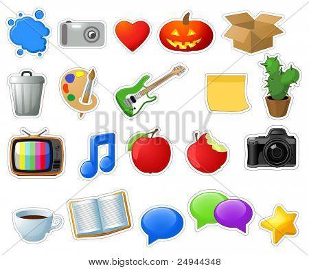 Unterhaltung-Symbole. Vektor.