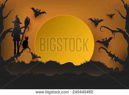 Young Witch Cat Dark Vector & Photo (Free Trial) | Bigstock