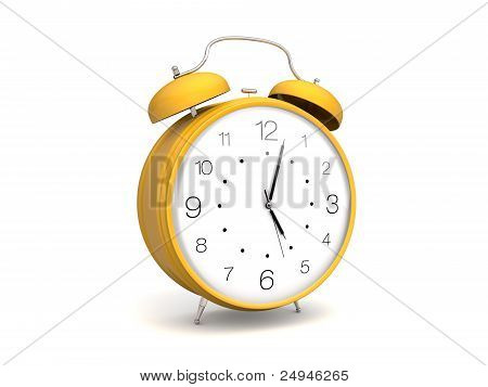 Retro yellow alarm clock