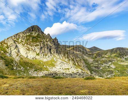 Bulgarian Rila Mountains August View, Haramijata Peak, Also Known As Hajduta Peak On A Sunny Summer