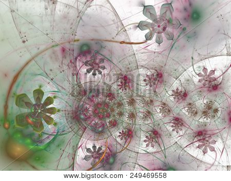 The Floral Universe. Flowers In The Bubbles