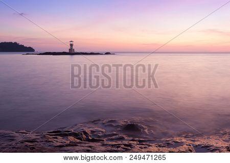 Panoramic Dramatic Sunset Sky And Tropical Sea.