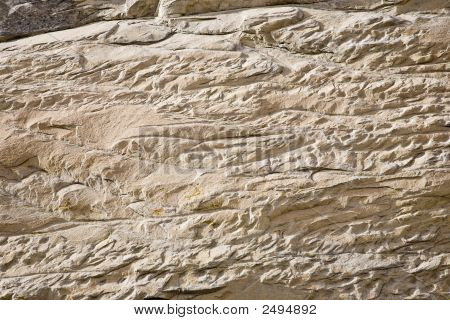 Reddish yellowish Sandstone - stone surface rock formation poster