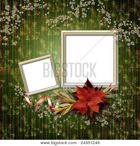Frameworks For Photo. The Vintage Christmas Composition.
