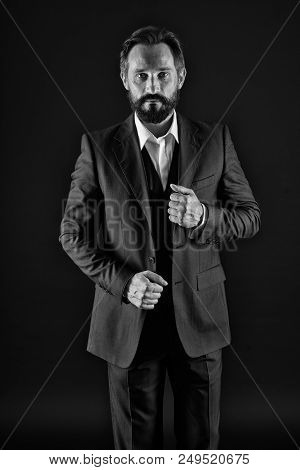 Businessman. Businessman In Formal Wear. Businessman Of Style And Status. Fashion Businessman With S