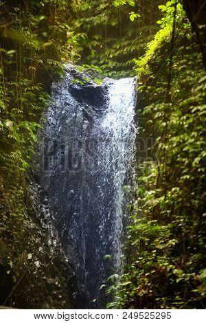 Waterfall. Beautiful waterfall landscape