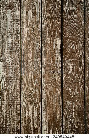 Texture Of Wood Use As Natural Background. Brown Texture. Abstract Background. Close Up Of Wall Made