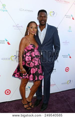 LOS ANGELES - JUL 14:  Wife, Richard Brooks at the 20th Annual DesignCare Gala on the Private Estate on July 14, 2018 in Malibu, CA