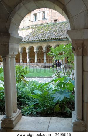 Walking In A Cloister -Albi, France