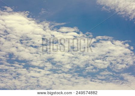 The Sky With Beautiful Clouds. Beautiful Blue Sky With Clouds Background.sky Clouds.sky With Clouds