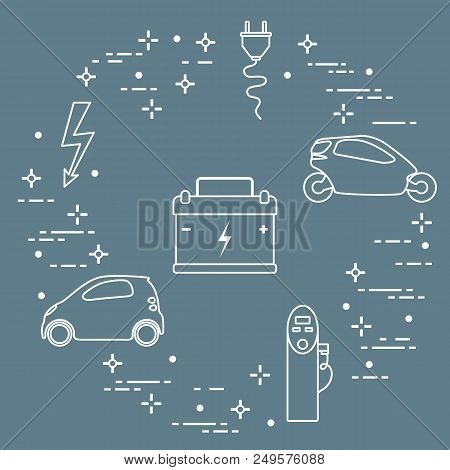 electric cars, battery, charging station, electrical safety sign, cable, electrical  plug