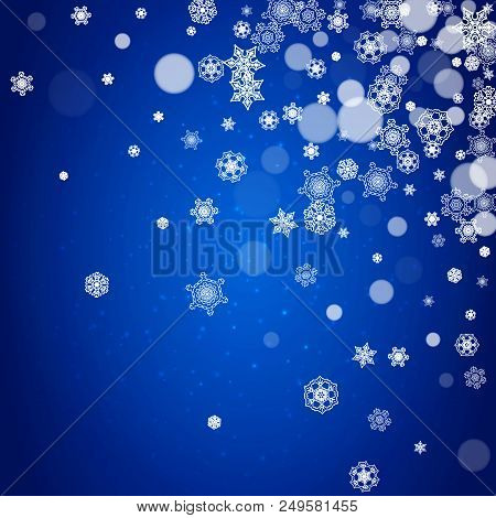 snowflake border for christmas and new year celebration holiday snowflake border on blue background