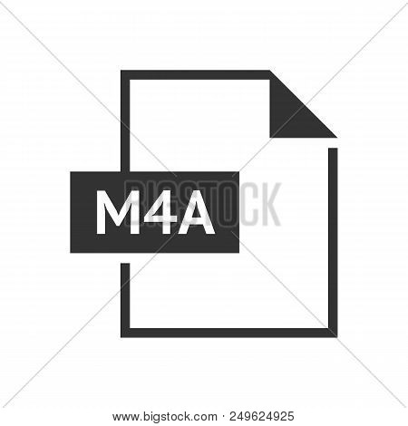 File Format Icon In Black And White. Web Video Media. Vector Illustration.