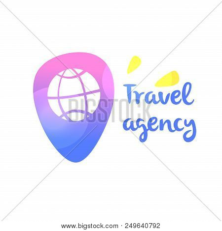 Template Logo For Travel Agency Point Map Check Location In Navigation Concept