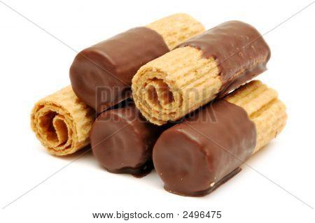 Rollos de oblea de Chocolate