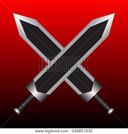 Two Crossed Swords On Vector & Photo (Free Trial) | Bigstock