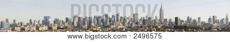 Manhattan Skyline Panorama Daytime