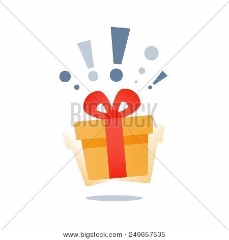Delight Present, Surprise Yellow Gift Box, Birthday Celebration, Special Give Away Package, Loyalty