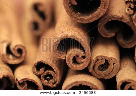 Closeup Of Cinnamon Sticks
