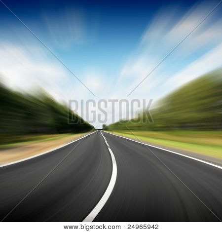 Road in motion blur.