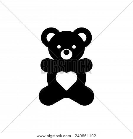 Teddy Bear Vector Icon Flat Style Illustration For Web, Mobile, Logo, Application And Graphic Design