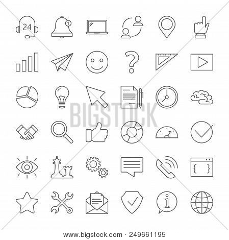 Customer Service Icon Set. Support Clients And Help Them With Problems. Providing Customer With Valu