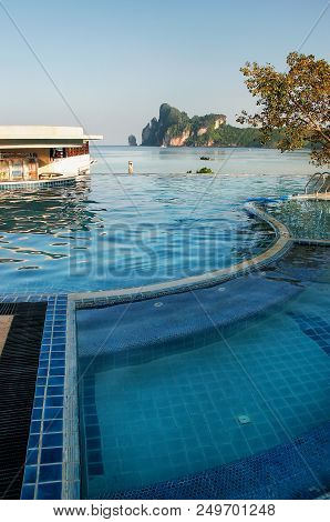 Pool At Ao Loh Dalum Beach, Phi Phi Don Island, Krabi Province, Thailand. Koh Phi Phi Don Is Part Of