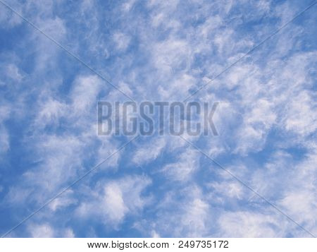 Puffy White Cloud Pattern On A Blue Sky, Melbourne 2018