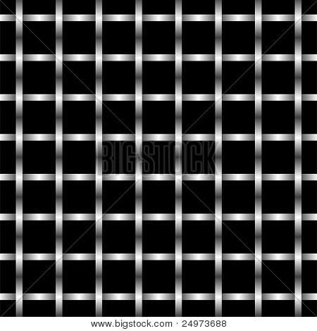 Abstract Illustration Metallgitter Wand Muster. Vektor