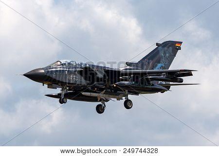 Raf Fairford, Gloucestershire, Uk - July 9, 2014: German Air Force (luftwaffe) Panavia Tornado Ecr (