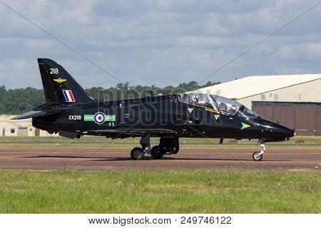 Raf Fairford, Gloucestershire, Uk - July 14, 2014: Royal Air Force (raf) Hawker Siddeley Hawk T.1a X