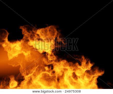 Fire. 3d rendering image.