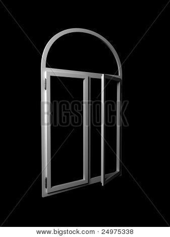 Window isolated. 3d rendering image.