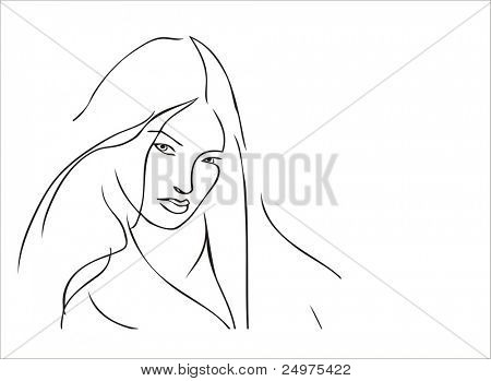 Vector illustration like ink figure.