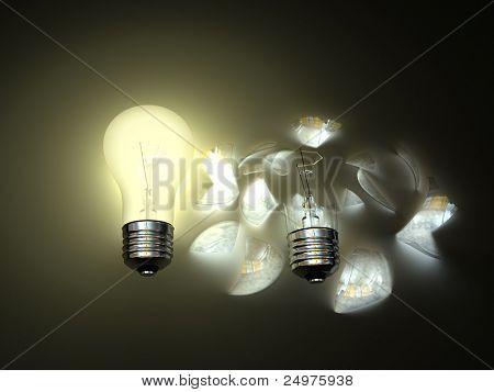 bulbs. 3d rendering