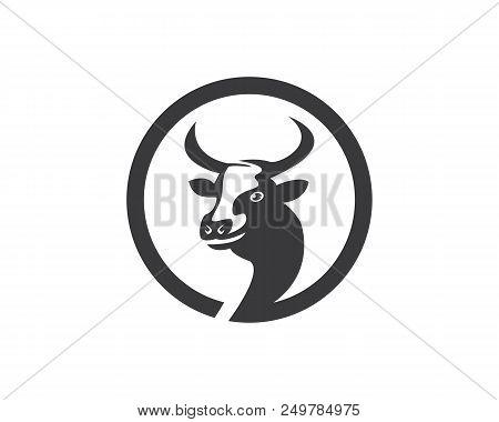 Cow Head Silhouette Vector & Photo (Free Trial) | Bigstock