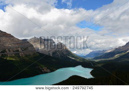 Cloudy Peyto Lake 6