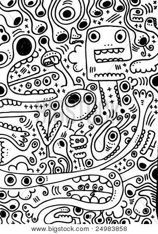 I love my freaky weird creatures doodles