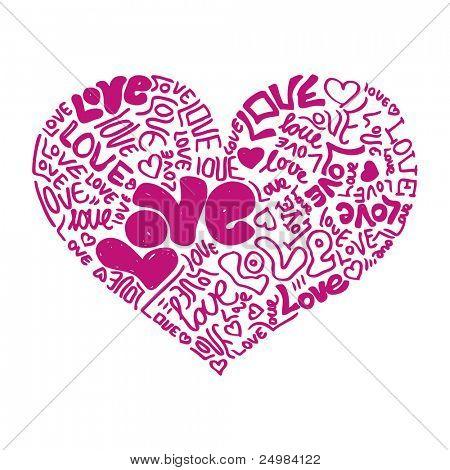 I love my doodles valentine heart