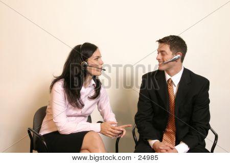 Business Couple Man Woman
