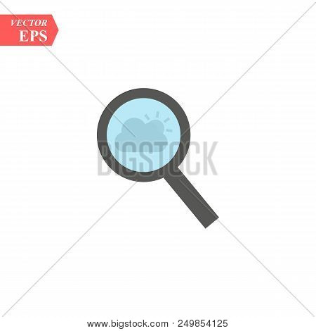 Magnify Icon. Modern Flat Pictogram. Magnifying Glass Sign. Search Icon Isolated On Background. Simp