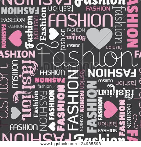 i love fashion seamless pattern in vector