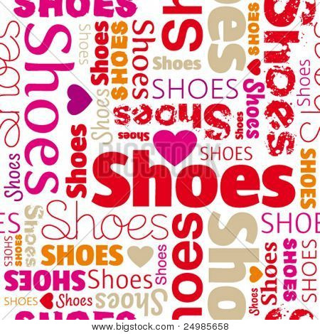 i love shoes seamless background pattern in vector
