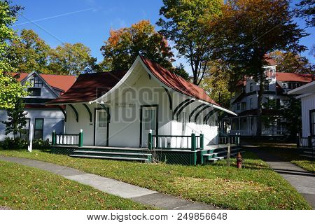 Bay View, Michigan / United States - October 17, 2017: One May View Historic Artifacts, Documents, A