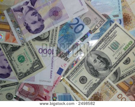 Mixed Currency Eur, Nok & Usd 2